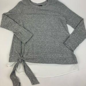 Simply Vera Wang Long Sleeve Layered Top NWOT